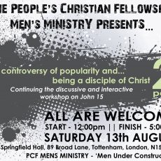 PCF Men's Ministry –  The controversy of popularity and… being a disciple of Christ! Part 2