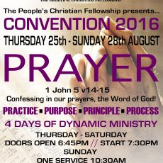 CONVENTION 2016 – PRAYER