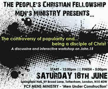 Men's Ministry Presents… PCF Men's Seminar 2016