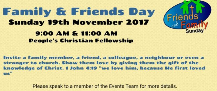 Friends and Family Day!